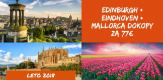 Einburgh + Eindhoven + Mallorca dohromady za 77€