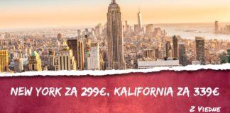 letenky z Viedne do New York-u za 299€