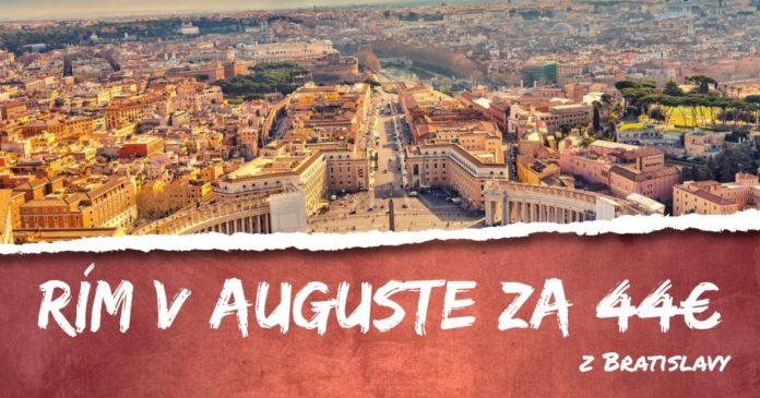 letenky z Bratislavy do Ríma za 44€