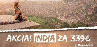 letenky z Budapešti do Indie za 339€