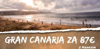 letenky z Krakova na ostrov Gran Canaria za 87€