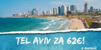 letenky z Katovíc do Tel Aviv-u za 62€