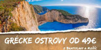 grécke ostrovy z Bratislavy a Košíc