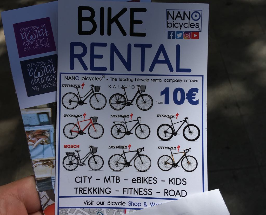 bicykel na Malorke