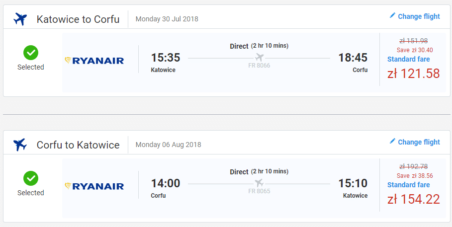 letenky z Katovíc na ostrov Korfu