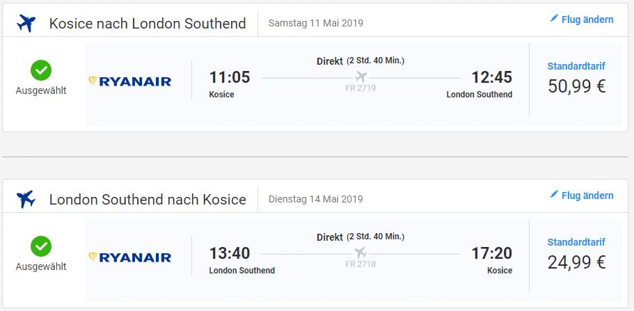 letenky z Košíc do Londýna