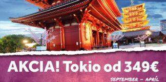 letenky do Tokia za 349€