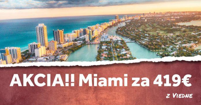 letenky z Viedne do Miami za 419€