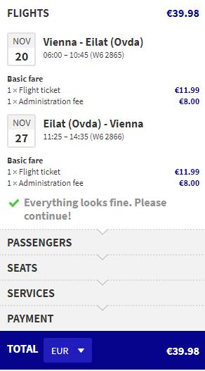 letenky z Viedne do Eilat-u