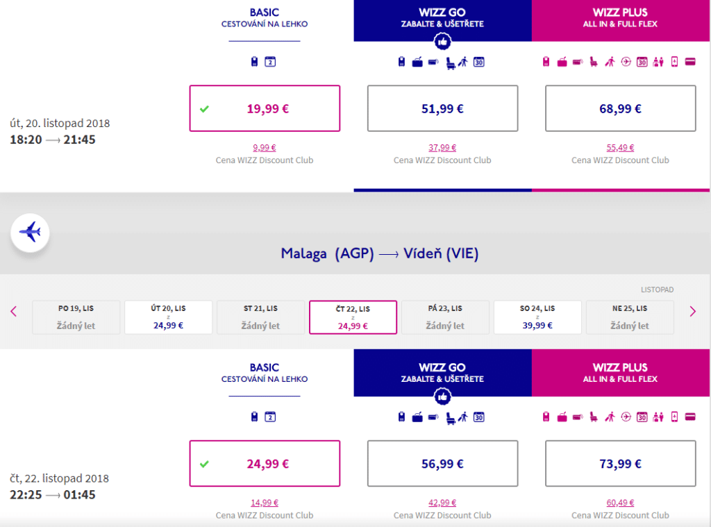 letenky z Viedne do Malagy