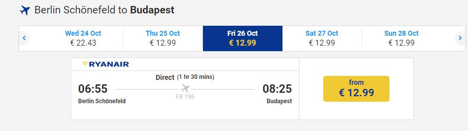 letenky z Berlína do Budapešti