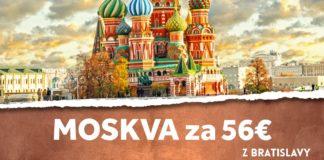 letenky z Bratislavy do Moskvy za 56€
