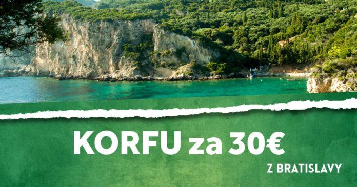 letenky z Bratislavy na Korfu za 30€