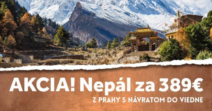 letenky z Prahy do Nepálu za 389€