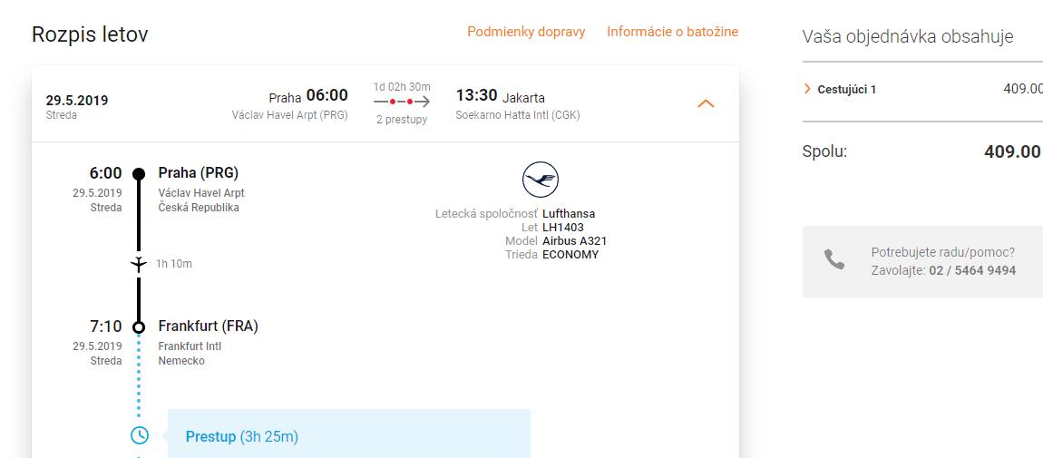 letenky z Prahy do Jakarty