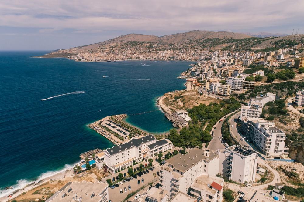 Mesto Saranda v Albánsku