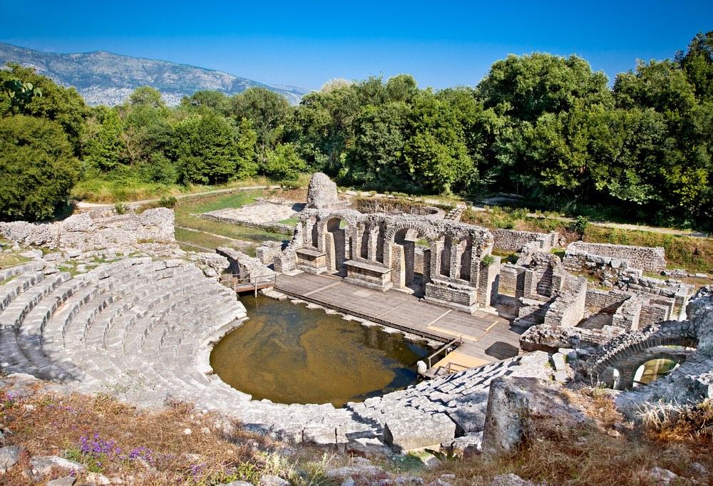 grécky amfiteáter, butrint albánsko