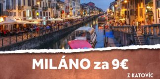 letenky z Katovíc do Milána za 9€