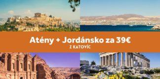 Atény + Jordánsko - letenky spolu za 39€