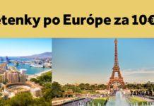 letenky po Európe za 10€