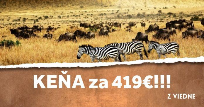 letenky z Viedne do Kene za 419€