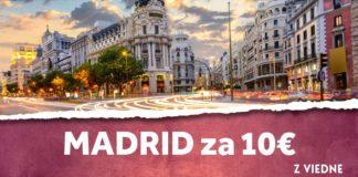 letenky z Viedne do Madridu za 10€