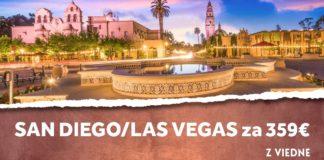 letenky z Viedne do San Diega alebo Las Vegas