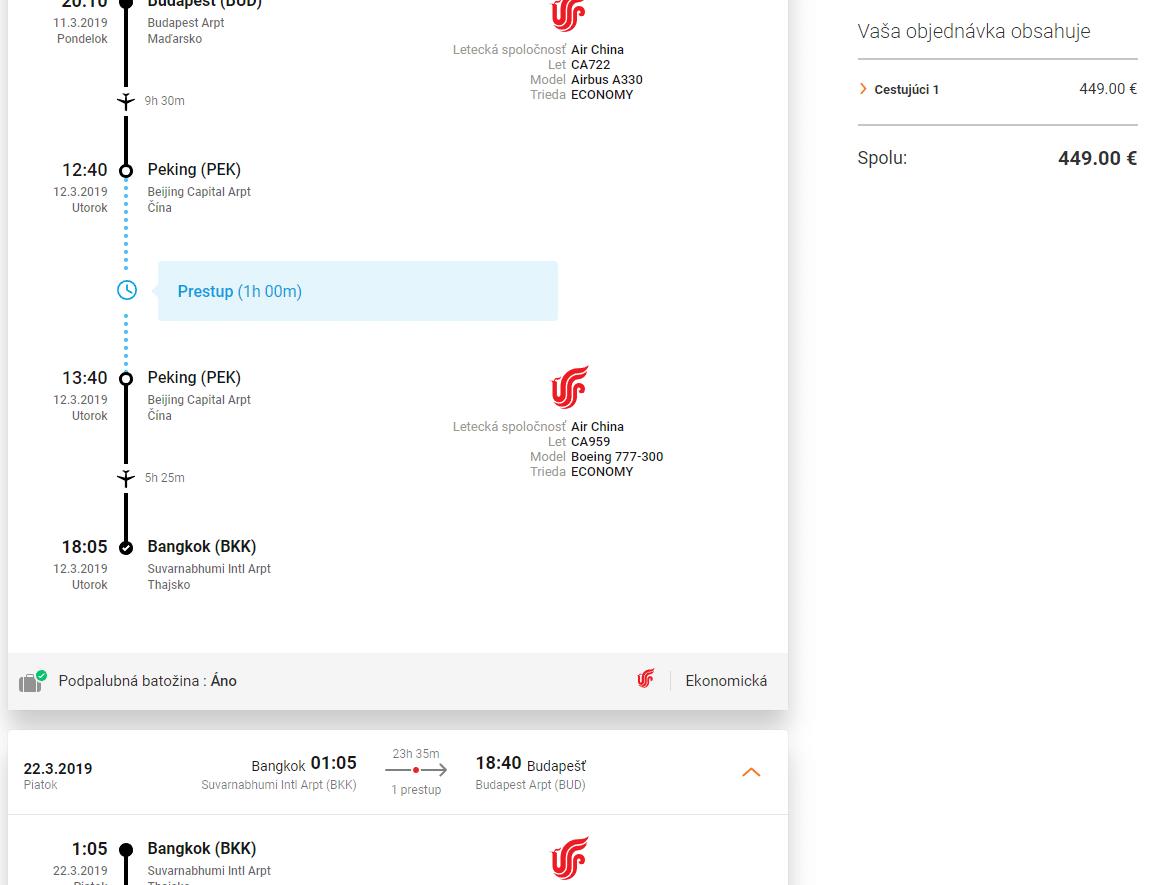 letenky z Budapešti do Bangkoku