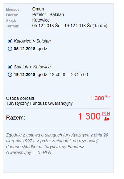 letenky z Katovíc do mesta Salalah