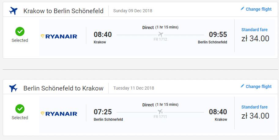 letenky z Krakova do Berlína