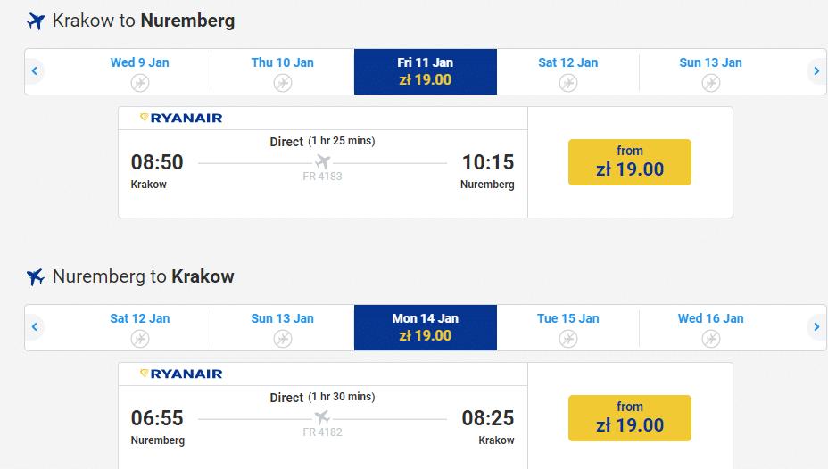 letenky do Norimbergu