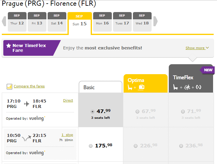 letenky z Prahy do Florencie