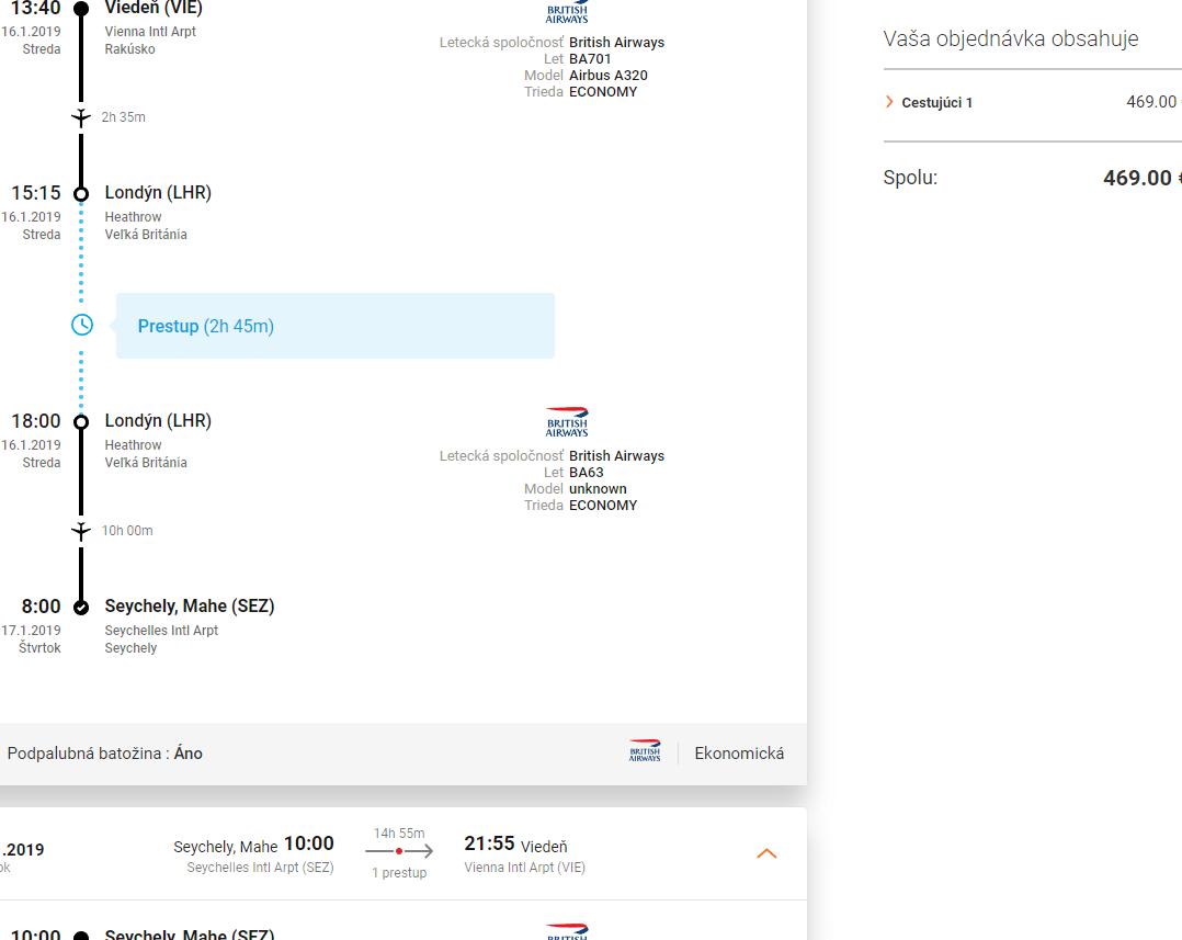letenky na Seychely za 469€