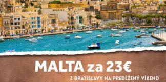 letenky z Bratislavy na Maltu za 23€