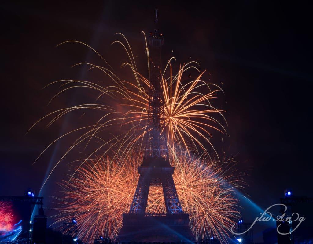 Paríž ohňostroj