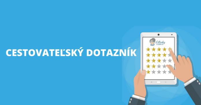cestovateľský dotazník Letenkyzababku.sk