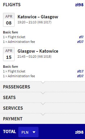 letenky z Katovíc do Glasgowu