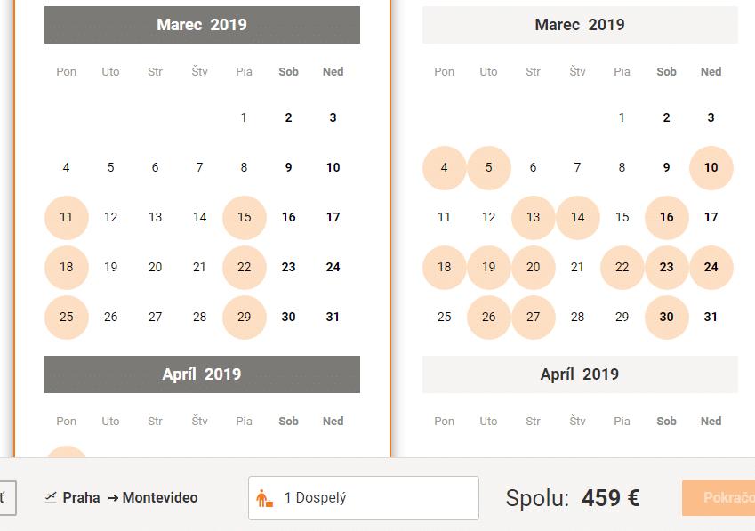 letenky z Prahy do Montevidea