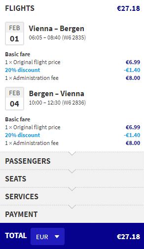 letenky z Viedne do Bergen-u