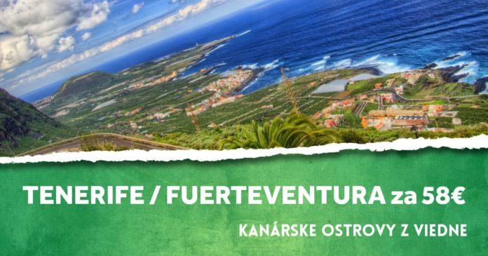 letenky na Kanárske ostrovy za 58€