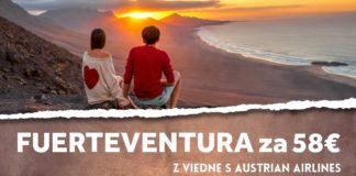 letenky z Viedne na Kanársky ostrov Fuerteventura