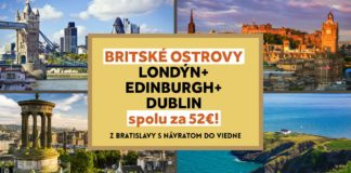 Londýn, Edinburgh, Dublin - letenky už za 52€!