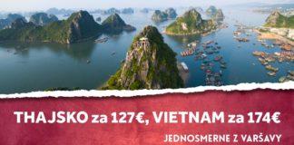 letenky z Varšavy do Thajska a Vietnamu - jednosmerne od 127€