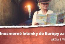 letenky z Viedne do Európy za 1€