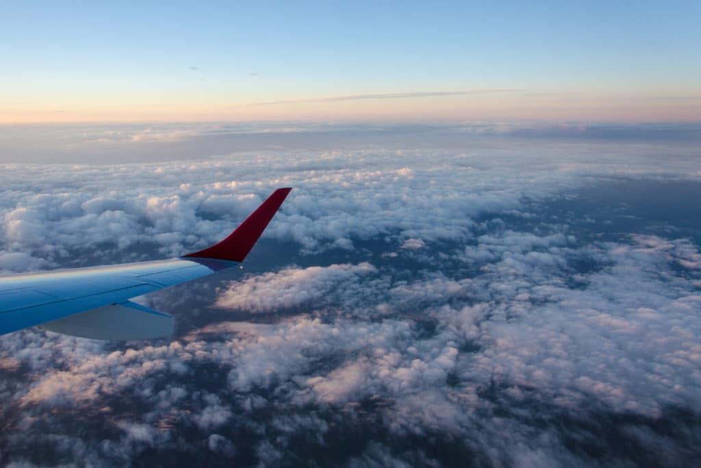 obloha z lietadla