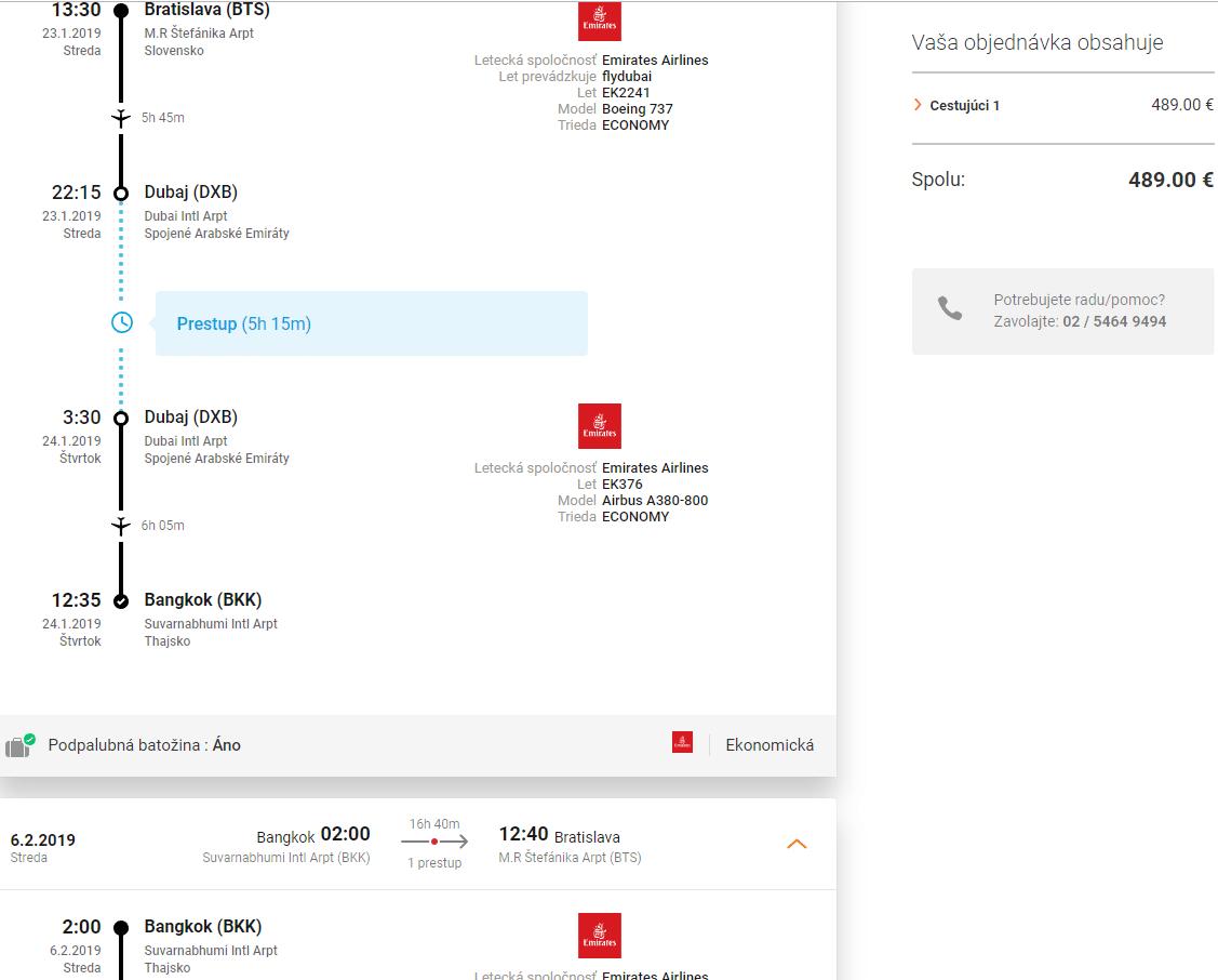 letenky z Bratislavy do Bangkoku