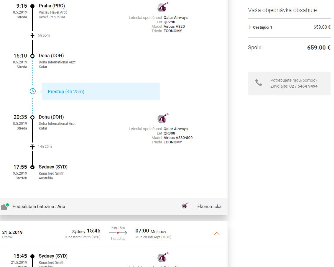 letenky z Prahy do Sydney