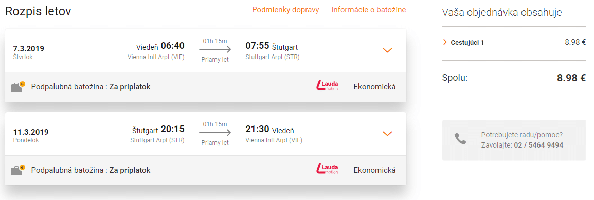 letenky z Viedne do Štutgartu