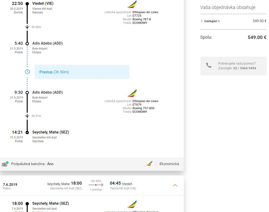 letenky z Viedne na Seychely