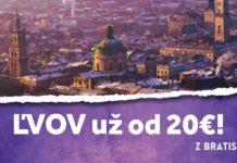 letenky z Bratislavy do mesta Ľvov za 20€